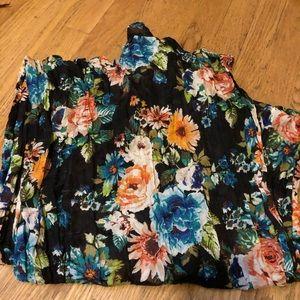 H&M black floral scarf